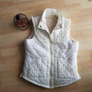 Roxy Beige Vest Junior styled hearts Size L